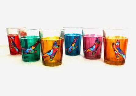 Jetty Cutting Chai Glasses | Craft by artist Rithika Kumar | Glass