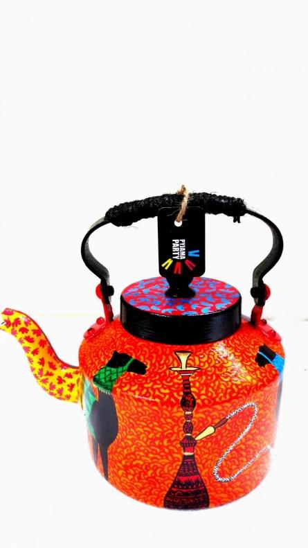 Rithika Kumar | Vibrant Tea Kettle Craft Craft by artist Rithika Kumar | Indian Handicraft | ArtZolo.com
