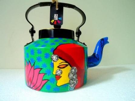 Rithika Kumar | Bewitched Tea Kettle Craft Craft by artist Rithika Kumar | Indian Handicraft | ArtZolo.com