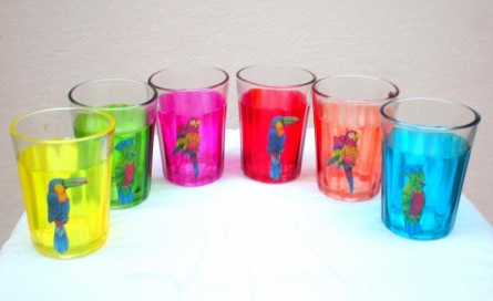 Birdy Cutting Chai Glasses | Craft by artist Rithika Kumar | Glass