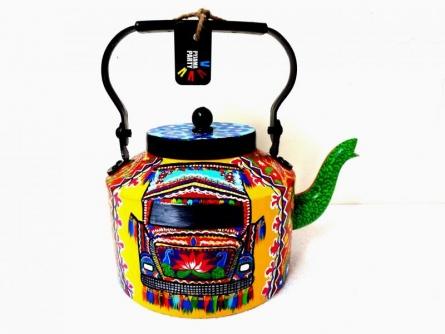 Intrensic Tea Kettle   Craft by artist Rithika Kumar   Aluminium