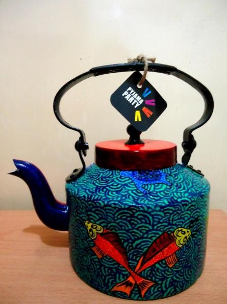 Japanese Fish Tea Kettle | Craft by artist Rithika Kumar | Aluminium