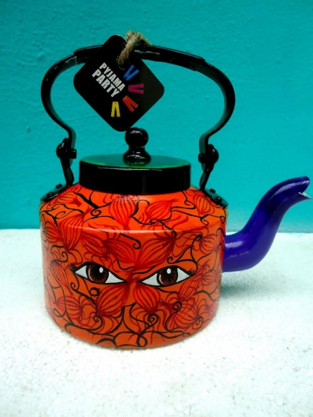 Rithika Kumar | Eye Opener Tea Kettle Craft Craft by artist Rithika Kumar | Indian Handicraft | ArtZolo.com