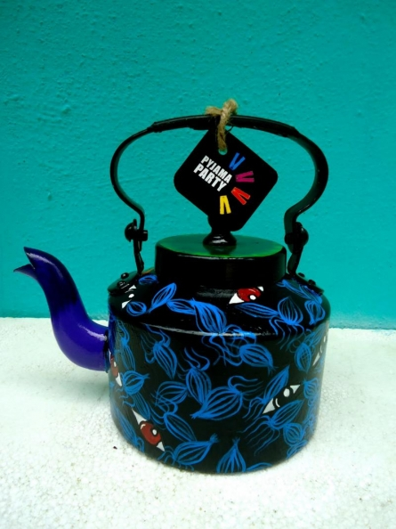 Rithika Kumar | Eye Spy Tea Kettle Craft Craft by artist Rithika Kumar | Indian Handicraft | ArtZolo.com