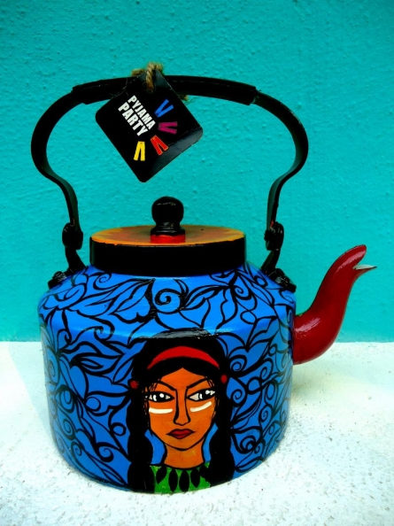 Rithika Kumar | Red Indian Tea Kettle Craft Craft by artist Rithika Kumar | Indian Handicraft | ArtZolo.com