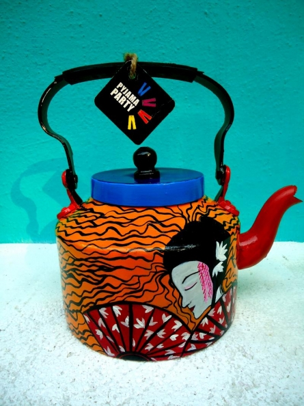 Rithika Kumar | Japanese Fan Tea Kettle Craft Craft by artist Rithika Kumar | Indian Handicraft | ArtZolo.com