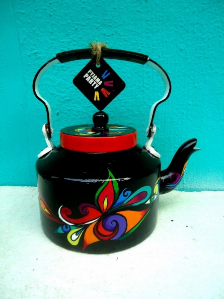 Rithika Kumar | Swirl Tea Kettle Craft Craft by artist Rithika Kumar | Indian Handicraft | ArtZolo.com