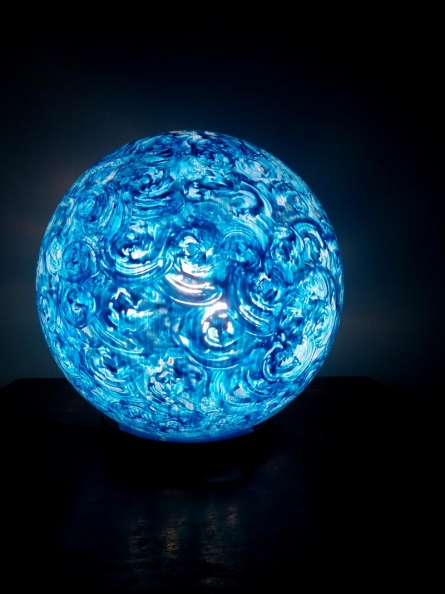 Rithika Kumar | Blueberry Lollipop Table Lamps Craft Craft by artist Rithika Kumar | Indian Handicraft | ArtZolo.com
