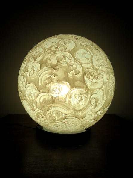 Rithika Kumar | Vanilla Lollipop Table Lamps Craft Craft by artist Rithika Kumar | Indian Handicraft | ArtZolo.com