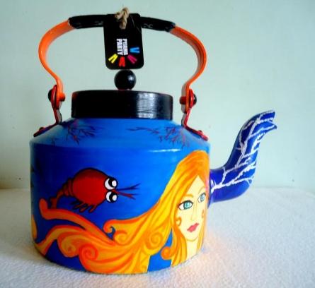 Rithika Kumar | Mermaid Tea Kettle Craft Craft by artist Rithika Kumar | Indian Handicraft | ArtZolo.com