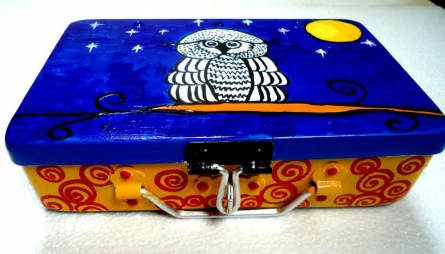 Rithika Kumar | Its A Hoot Trinket Box Craft Craft by artist Rithika Kumar | Indian Handicraft | ArtZolo.com