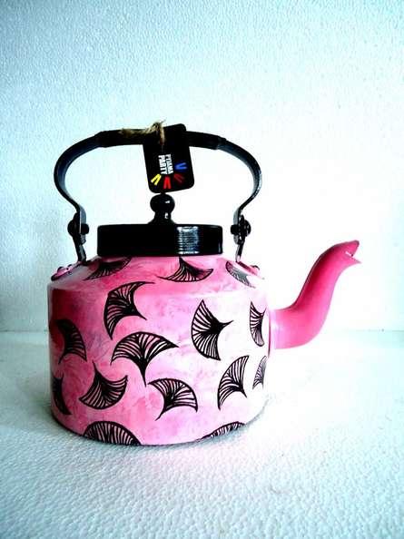 Floating Fan Tea Kettle   Craft by artist Rithika Kumar   Aluminium