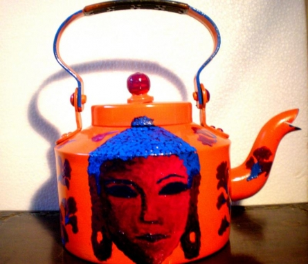 Buddha Tango Tea Kettle | Craft by artist Rithika Kumar | Aluminium