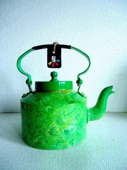 Foliage Textured Tea Kettle | Craft by artist Rithika Kumar | Aluminium