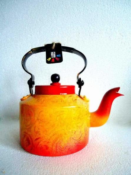 Rithika Kumar | Forest Fire Textured Tea Kettle Craft Craft by artist Rithika Kumar | Indian Handicraft | ArtZolo.com