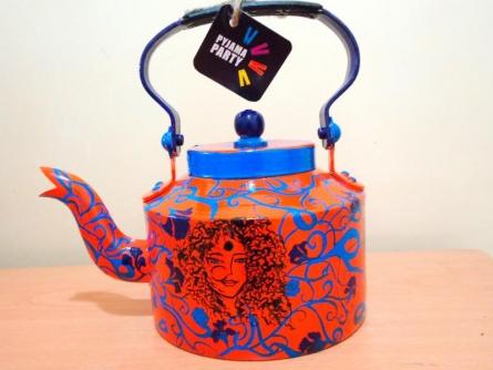 Free Spirit Women Tea Kettle | Craft by artist Rithika Kumar | Aluminium