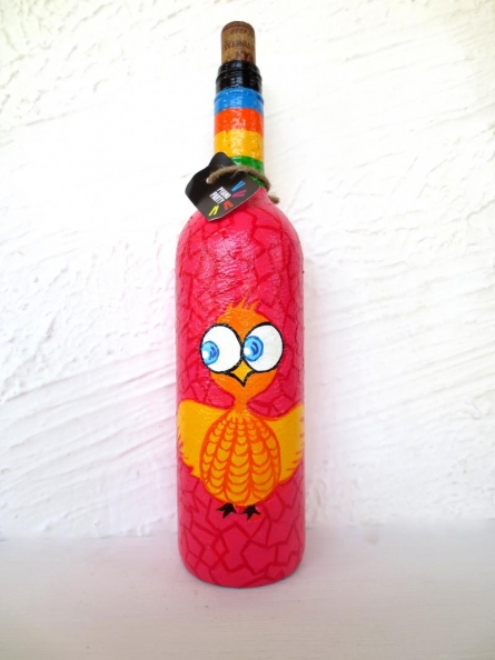 Rithika Kumar | Crazy Chic Hand Painted Glass Bottles Craft Craft by artist Rithika Kumar | Indian Handicraft | ArtZolo.com