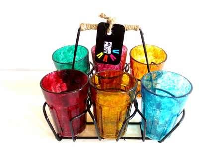Rithika Kumar | Textured Cutting Chai Glasses Craft Craft by artist Rithika Kumar | Indian Handicraft | ArtZolo.com