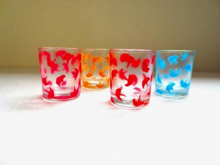 Textured Glasses | Craft by artist Rithika Kumar | Glass