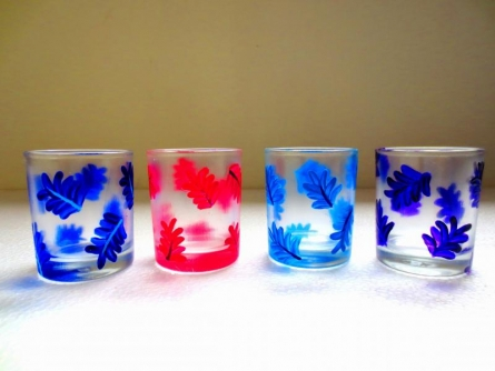 Leafy Glasses | Craft by artist Rithika Kumar | Glass