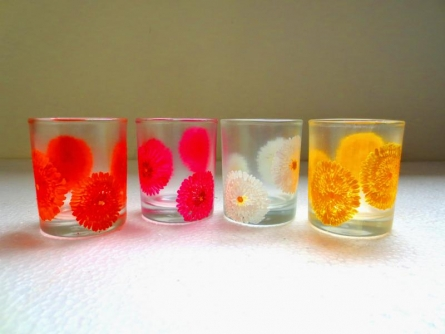 Flowery Glasses | Craft by artist Rithika Kumar | Glass