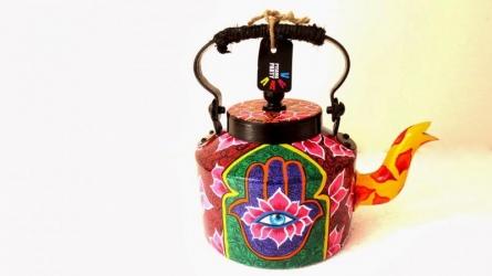 Third Eye Tea Kettle | Craft by artist Rithika Kumar | Aluminium