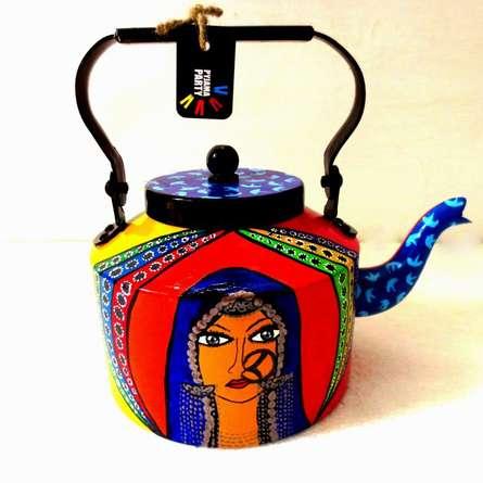 Banjaran Beauty Tea Kettle | Craft by artist Rithika Kumar | Aluminium