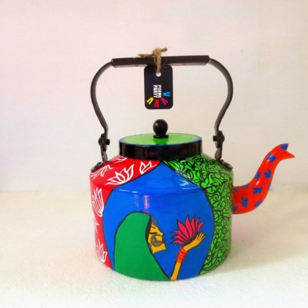 Rithika Kumar | Lotus Tea Kettle Craft Craft by artist Rithika Kumar | Indian Handicraft | ArtZolo.com