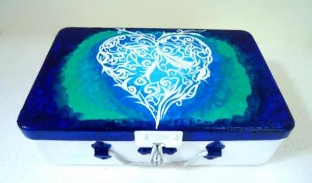 Love Trinket Box | Craft by artist Rithika Kumar | Aluminium