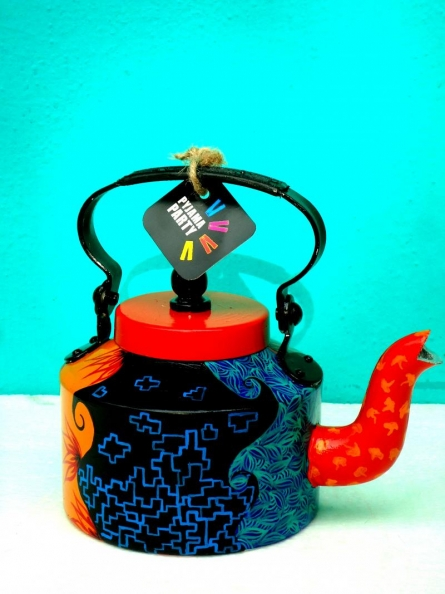 Pretty Littles Tea Kettle | Craft by artist Rithika Kumar | Aluminium