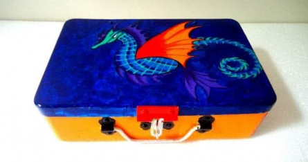 Sea Dragon Trinket Box | Craft by artist Rithika Kumar | Aluminium