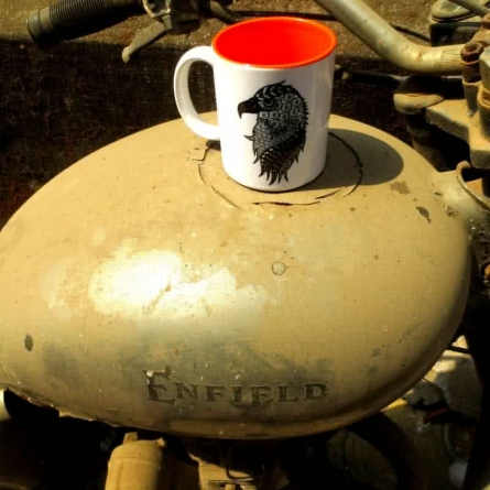 Albert Mug On Enfield | Craft by artist Rithika Kumar | Ceramic