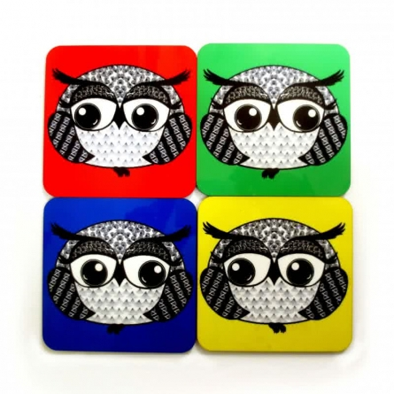 Rithika Kumar | Baby Boo Boo Coasters1 Compressed Craft Craft by artist Rithika Kumar | Indian Handicraft | ArtZolo.com