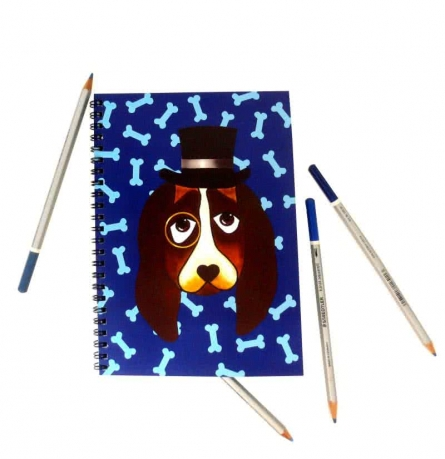 Rithika Kumar | Basset Hound Notebook Craft Craft by artist Rithika Kumar | Indian Handicraft | ArtZolo.com