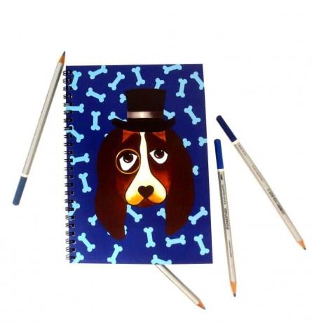 Basset Hound Notebook | Craft by artist Rithika Kumar | Paper