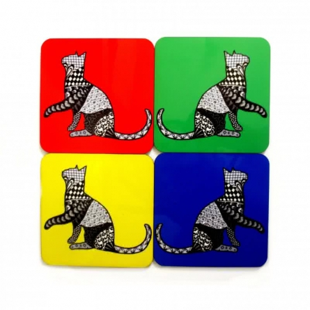 Bela Coasters | Craft by artist Rithika Kumar | MDF Wood