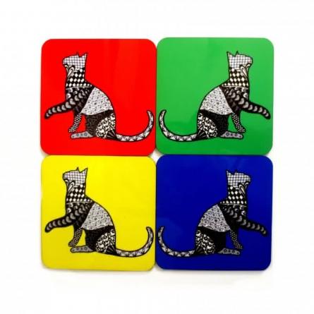 Bela Coasters | Craft by artist Rithika Kumar | MDF Wood