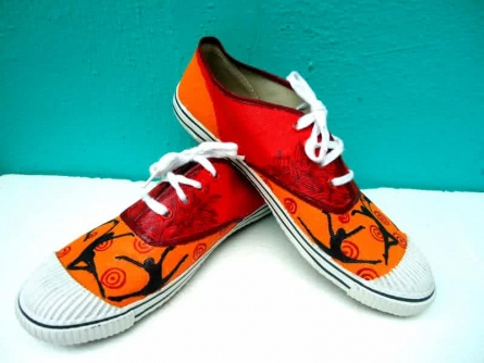 Happy Feet Hand Painted Shoe | Craft by artist Rithika Kumar | Canvas