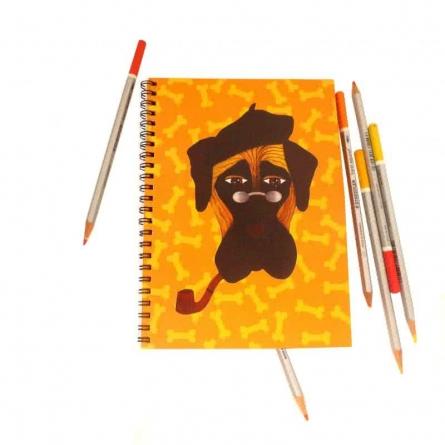 Mastiff Notebook   Craft by artist Rithika Kumar   Paper