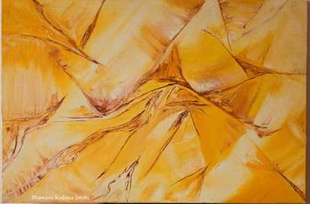 Sands - The Undulating And Dancing Dunes | Painting by artist Bhawna Jotshi | oil | Canvas