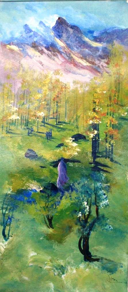 Along The Way | Painting by artist Atma Group | acrylic | Paper