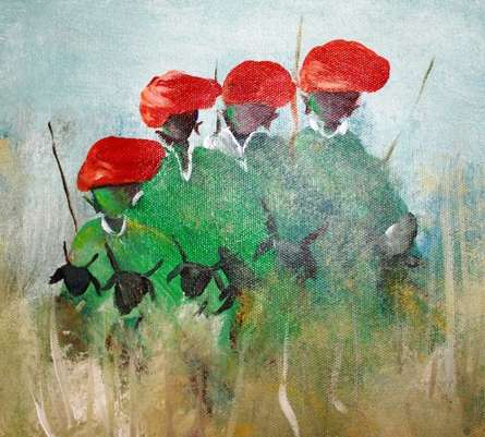 Folk Music Iii | Painting by artist Atma Group | acrylic | Canvas