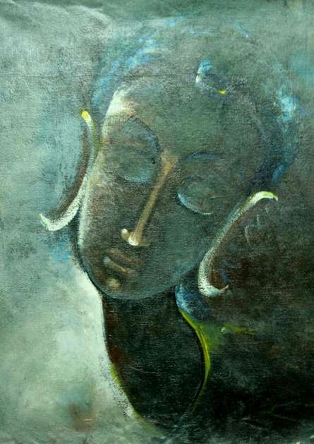 Religious Acrylic Art Painting title 'God' by artist AYAAN GROUP