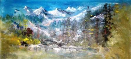 Landscape Acrylic Art Painting title 'Landscape' by artist AYAAN GROUP