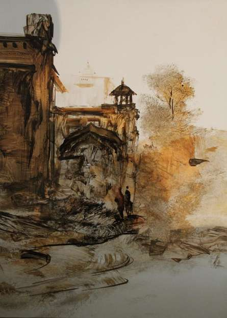 Place Watercolor Art Painting title 'Place ' by artist AYAAN GROUP