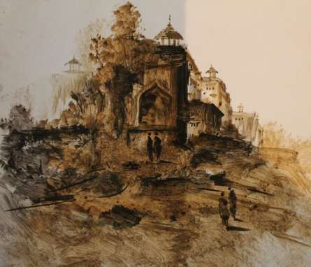 Place Watercolor Art Painting title Place by artist AYAAN GROUP