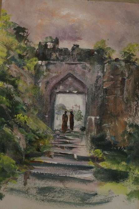 Place Acrylic Art Painting title Place by artist AYAAN GROUP