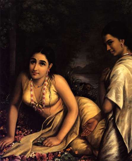 Damayanthi | Painting by artist Raja Ravi Verma Reproduction | oil | Canvas