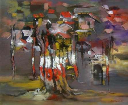 Tree | Painting by artist Sunil Bambal | acrylic | Canvas