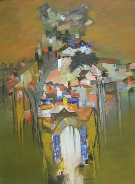 Map Of India | Painting by artist Sunil Bambal | acrylic | Canvas